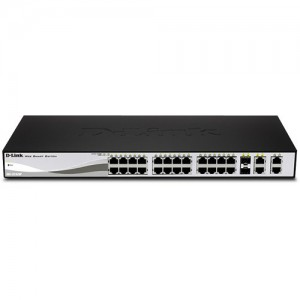 D-Link DES-1210-28P Web Smart 24-Port Fast PoE Ethernet Switch