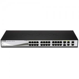 D-Link DES-1210-28P Web Smart 24-Port Fast PoE Ethernet Switch