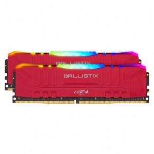 Crucial Ballistix 8GB DDR4 3600MHz UDIMM RGB Gaming Module – Red x2