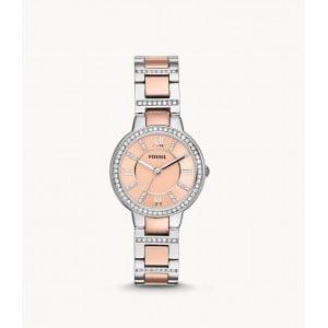 Fossil Women's Virginia Quartz Stainless Steel Dress Watch