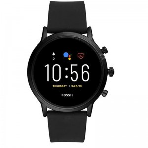 Fossil 5th Generation Model Carlyle - Stainless Steel Touch Screen Smartwatch with Speaker with Heart Rate, GPS, NFC, and Smartphone Notification Functions