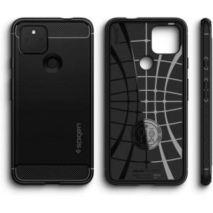 Spigen Rugged Armor Designed for Pixel 4a 5G Case (2020) - Matte Black