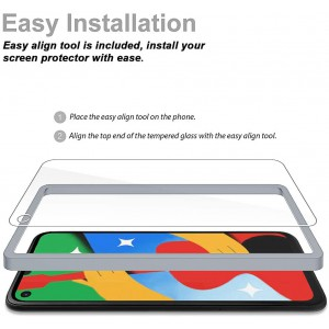 4 Pack Tempered Glass Compatible for Google Pixel 4a 5G 6.2 inch, Not for Pixel 4a 4G, Tempered Glass with Installation Tray