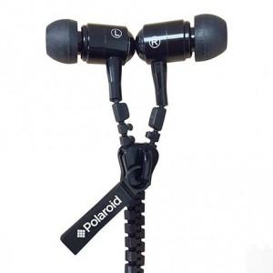 Polaroid Zipper Earphones - Black