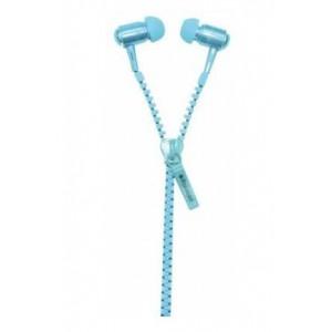 Polaroid Zipper Earphones - Blue