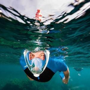 Homemark Dry Dive Snorkel Mask Full Face L/XL- Blue