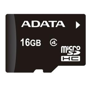 ADATA 16GB Micro SDHC Card Class 4 + SD Adapter