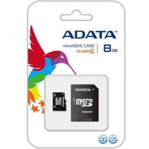 ADATA 8GB Micro SDHC Card Class 4 + SD Adapter