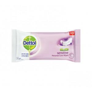 Dettol Hygiene Personal Care Wipes Sensitive (1 x 10's)
