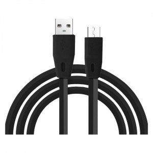Volkano Slim Series Flat PVC Type-C Cable - 1.2m - Black