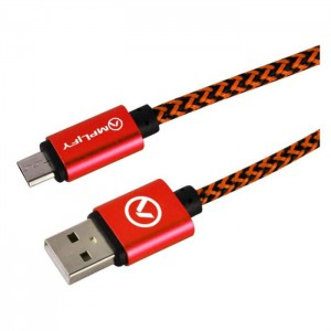 Amplify Linked Series Micro USB Braided Cable 2 Meter - Black and Red