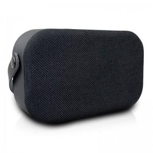 Volkano Fabric Series Bluetooth Speaker With Fabric Trim -  Black