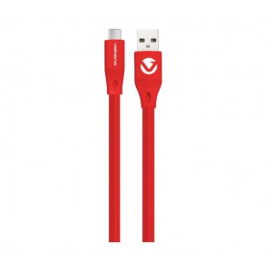 Volkano Slim Series Flat PVC Type-C Cable 1.2m - Red