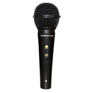 Volkano Vocal Series ABS Wired Microphone – Black