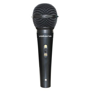 Volkano Ace Series Metal Wired Dynamic Vocal Microphone - Black