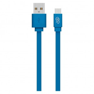 Pro Bass Energize Series Packaged Micro USB Cable- Blue 1.2m