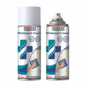 Parrot Whiteboard Aerosol Cleaning Fluid (400ml - Box of 12)