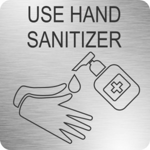 Parrot Hand Sanitizer Safety Sign (210 x 210mm - Brushed ACP)
