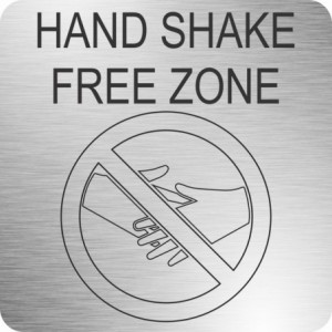 Parrot Hand Shake Free Zone (210 x 210mm - Brushed ACP)