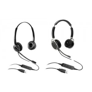 Grandstream Premium HD USB Binaural Headset with Integrated Call Light, Noise Cancelling Technology