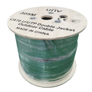 Uniview 305m Roll, Black, UTP, CAT6 Cable (Outdoor Use)