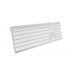 Macally Aluminum Ultra Slim USB-C Wired Keyboard for Mac and PC