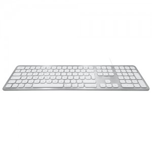 Macally Ultra Slim USB Keyboard with 2 USB Ports for Mac - British English