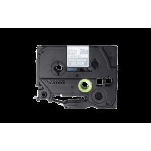 Brother TZE PR955 Labelling Tape Cassette - 24mm White on Premium Silver 4m
