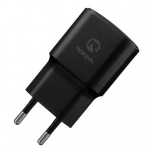 Rocka Recharge-M Series 2A Wall Charger with Micro USB Cable - Black