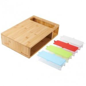 Eiger Bernese Bamboo Cutting Board with Prep Storage