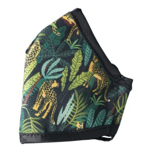 Clinic Gear Anti-Microbial Printed Mask Ladies Jungle - Navy