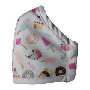 Clinic Gear Anti-Microbial Printed Mask Girls Donut - Turq