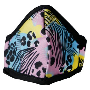 Clinic Gear Anti-Microbial Printed Mask Girls Wild Print - Multi