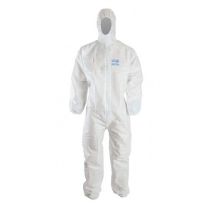 Clinic Gear Disposable Coverall - Large - White