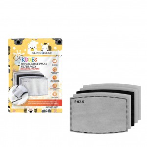 Clinic Gear Kids Replaceable PM2.5 Layered Filter 2 Pack