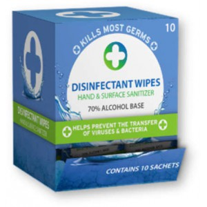 Liquid Clinic Single Use Disinfectant Wipes - 10 Pack