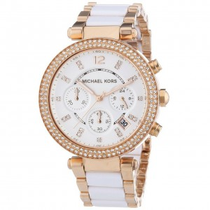 Michael Kors Women's Parker Stainless Steel Watch with Glitz Accents