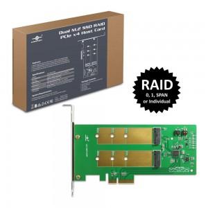 Vantec Dual M.2 SSD RAID PCIe X4 Host Card