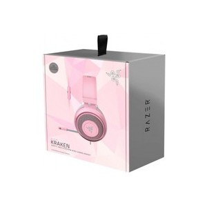 Razer - Kraken Wired Stereo Gaming Headset - Quartz Pink Edition (PC/Gaming)