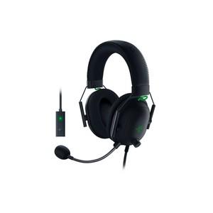Razer - BlackShark V2 Wired Gaming Headset + USB Mic Enhancer Sound Card (PC)