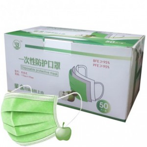 Casey 3 Ply Disposable Face Mask 50 Per Pack - Apple