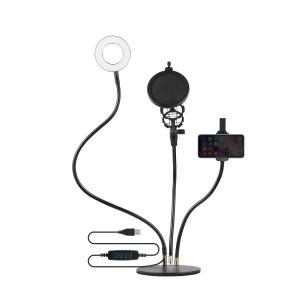Volkano Insta Series Ring Light Desk Stand Vlogging Kit