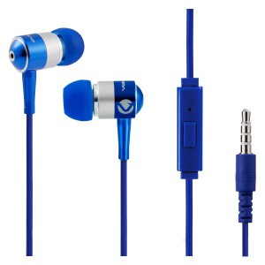 Volkano Stannic Series Earphones with Mic - Blue