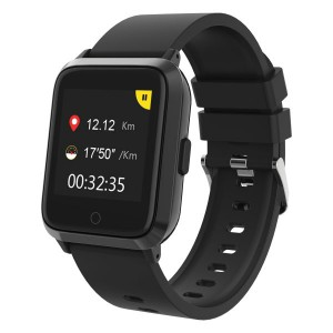 Volkano Active Tech Enduro series GPS Watch with Heart Rate Monitor - Black