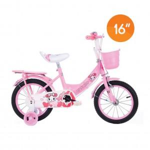 Kids Bike with Training Wheels  - Pink