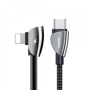 Remax Suker Series RC-087 Type-C to Lightning Data Cable - Black