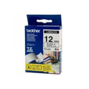 Brother P-Touch Tape - Black on White Tape 12mm x 8m P-Touch TZ Tape