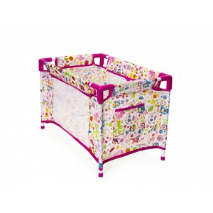 Jeronimo Doll Camp Cot-Pink Animals