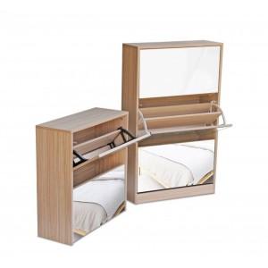 Fine Living Mirror Shoe Cabinet - 3+2tier Autumn