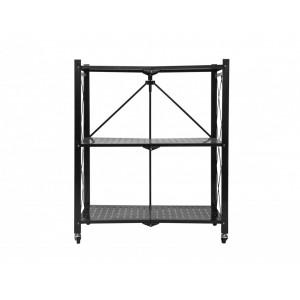 Fine Living Foldable Storage Rack - Black Metal 3 Layers